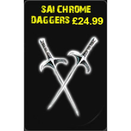 Sai Chrome Daggers £24.99