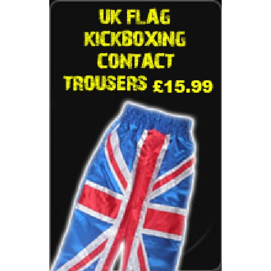 Uk Flag Kickboxing Contact Trousers £15.99