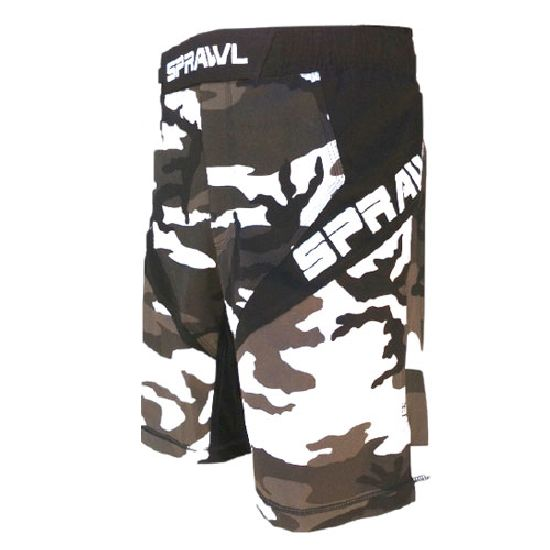 Sprawl Fusion 3 Series Fight Shorts - Urban Camo - NEW 2015