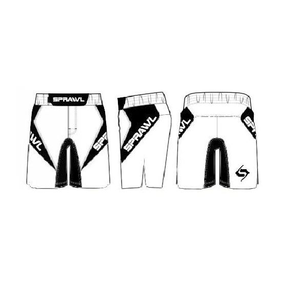 Sprawl Fusion 3 Series Fight Shorts - White/Black - NEW 2015