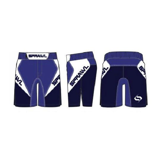 Sprawl Fusion 3 Series Fight Shorts - Royal Blue/Navy NEW 2015