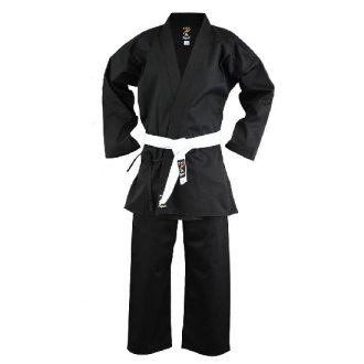 Karate Black Polycotton Uniform Adults...