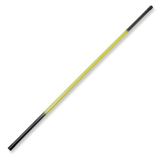 Graphite Bo Staff Straight 1pc- Black/Yellow