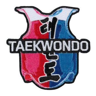 Taekwondo Embroidered Vest Patch