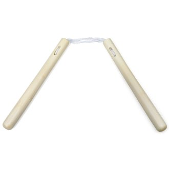 Nunchaku White Wax Round With Cord