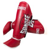 Sandee Kids Muay Thai Shin Guards - Red