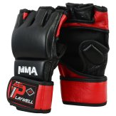 MMA Leather Elite Black/Red...
