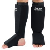 Krav Maga Heavy EVA Padding Elasticated Shin & Instep Guards