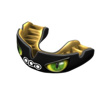 Opro Power-Fit Black/Green Eyes MouthGuard - Adults