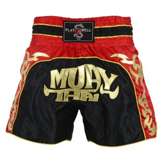 Muay Thai Competition Tribal Fight shorts - Black