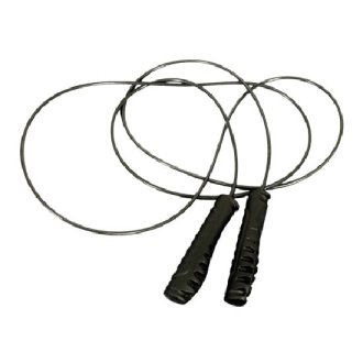 Deluxe Black Steel Cable Skipping Rope