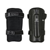 Krav Maga Deluxe Black Leather Shin Guards