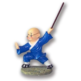 Figure: Shaolin Blue Uniform Monk With...