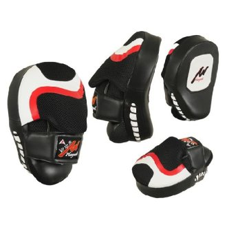 Boxing/MMA Curved Leather Shock Focus...