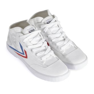 High Top Feiyue Vintage Wushu Training Shoes : White