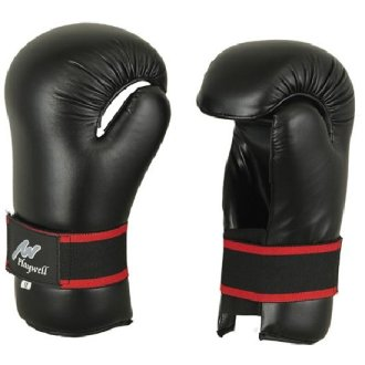 Semi Contact Point Sparring Gloves: Black