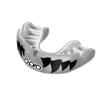 Opro Power Fit Silver Aggression Mouthguard - Adults