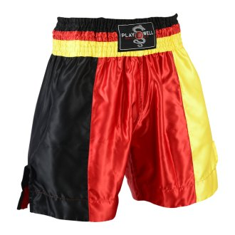 Boxing Competition Satin Training Shorts - Black/Yellow