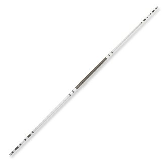 Chrome Competition Silver/Black Lotus Wood Jo Staff - 50 Inches