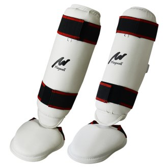 Elite 3 in 1 Shin-Instep Guard - White