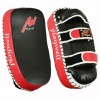 Deluxe Leather Curved Thai Arm Pads Black/Red