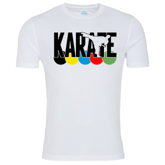 Karate WKF Colours T Shirt - White