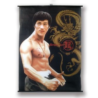 Large Bruce Lee Wall Poster Scroll: NO12