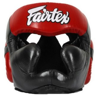 Fairtex Full Face Leather Head Guard