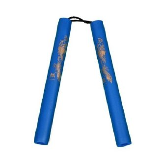 NR-008: Foam Nunchaku with Cord All Blue Dragon