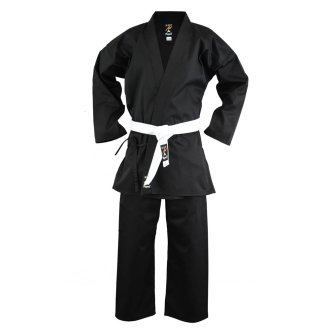 Adults Karate Medium Weight Polycotton Suit - Black