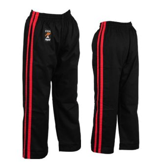 Full Contact Trousers - Black W/ 2 Red...