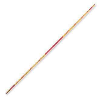 Chrome Competition Gold/Red Lotus Wood Bo Staff - 72 Inches