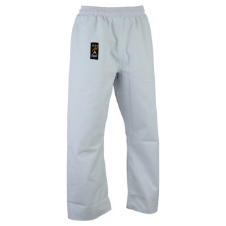 Karate Heavy Weight Canvas Trousers White - Elasticated Waist