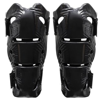 Dipped Foam Shin guard: Double Layer - Metallic Black