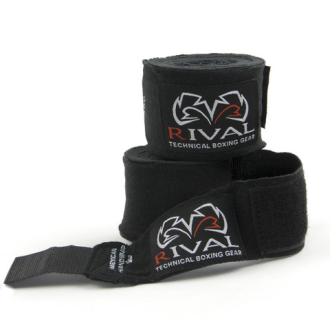 Rival Boxing Mexican 4m Long Hand Wraps - Black