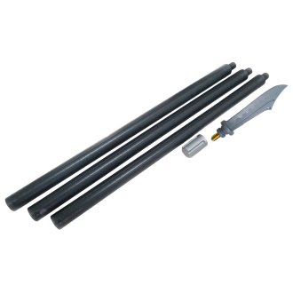 Wushu Polypropylene 3pc Long Stick - Kuan Knife