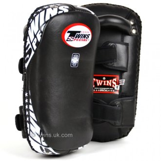 Twins Muay Thai Black Curved Leather...