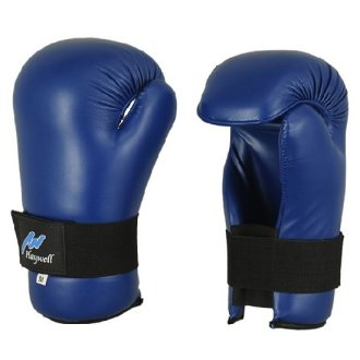Semi Contact Point Sparring Gloves: Blue