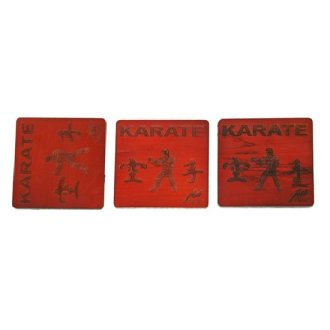 Wooden Coasters - Karate ( set of 3 )