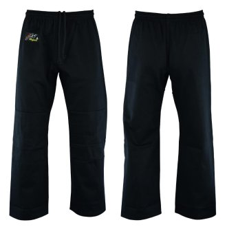 Judo Trousers: Bleached (Black) 10oz -...