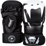 Venum Black MMA Impact Sparring Gloves - 7oz