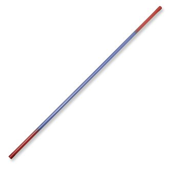 Graphite Bo Staff Straight 1pc - Blue/Red