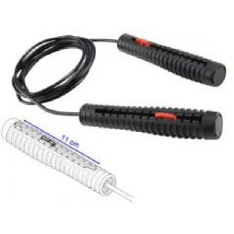 Deluxe Black PVC Adjustable Skipping...
