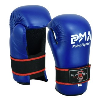 Semi Contact Point Sparring Gloves: Blue - NEW
