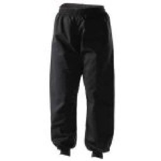 Wushu Black Silk Trousers