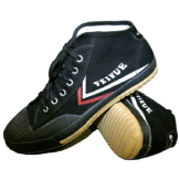 High Top Feiyue Wushu Training Shoes : BLACK - Special Offer