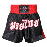 Muay Thai Competition Fight shorts - Black/Red