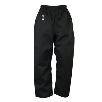 Karate Trousers Black Polycotton - 9oz