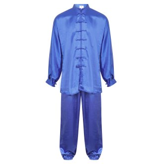 Tai Chi / Kung Fu Silk Uniform - Blue