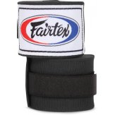 Fairtex Black Traditional Elastic Stretch Hand Wraps - 4.5M